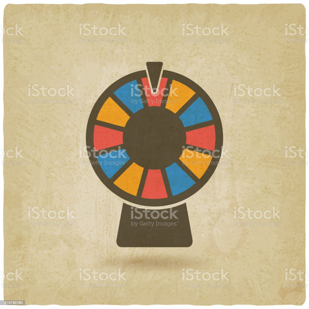 wheel game old background vector art illustration