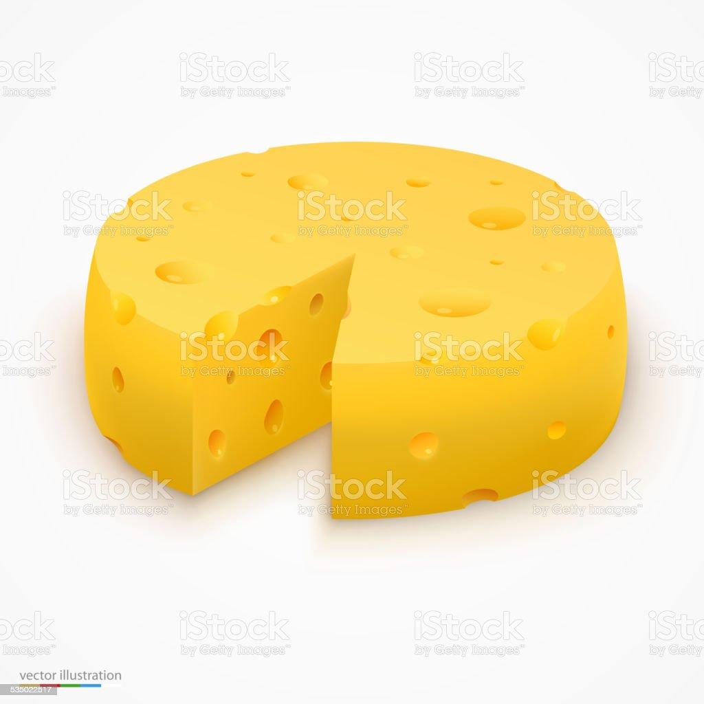 Wheel of cheese. Vector illustration vector art illustration