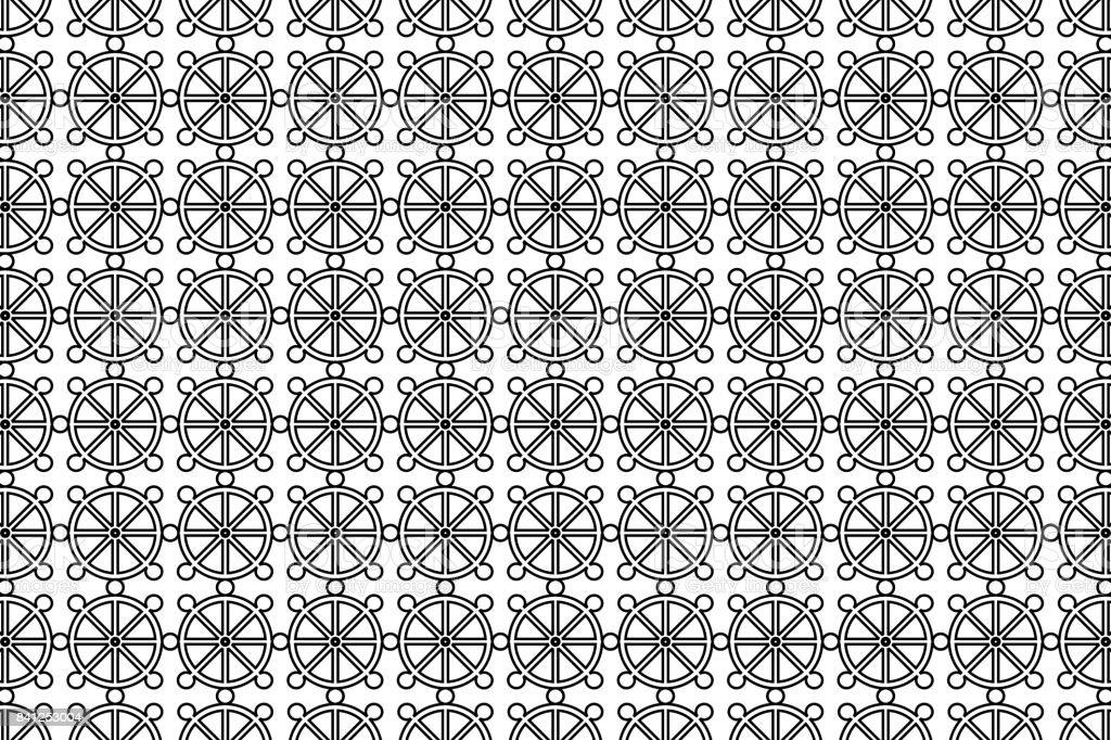 Wheel of Dharma vector art illustration