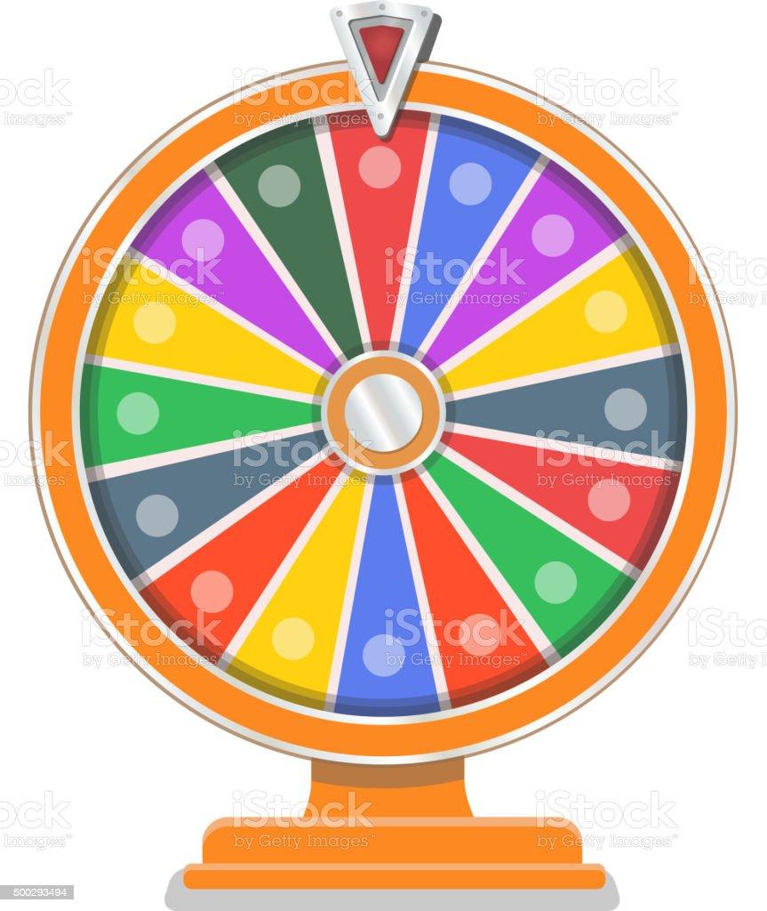 Wheel of fortune flat design template vector art illustration