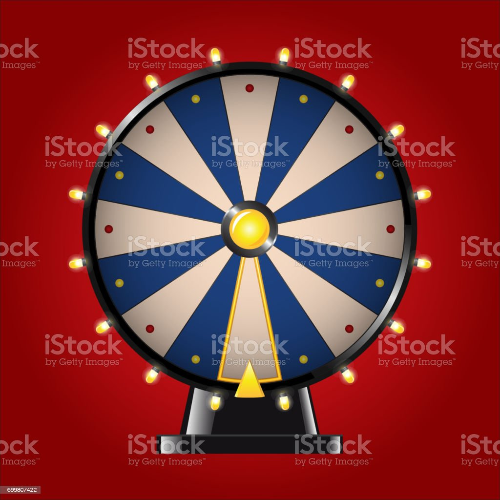 Wheel of Fortune - realistic vector modern image vector art illustration