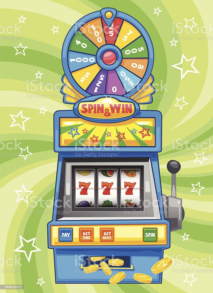 Wheel of Fortune Slot Machine - Soft Collection vector art illustration