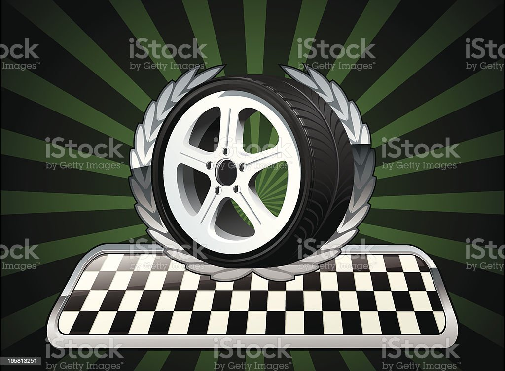 Wheel Racing Emblem royalty-free stock vector art