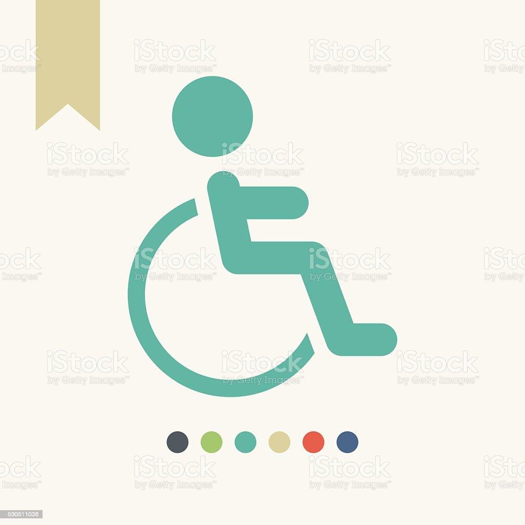 Wheelchair icon vector art illustration