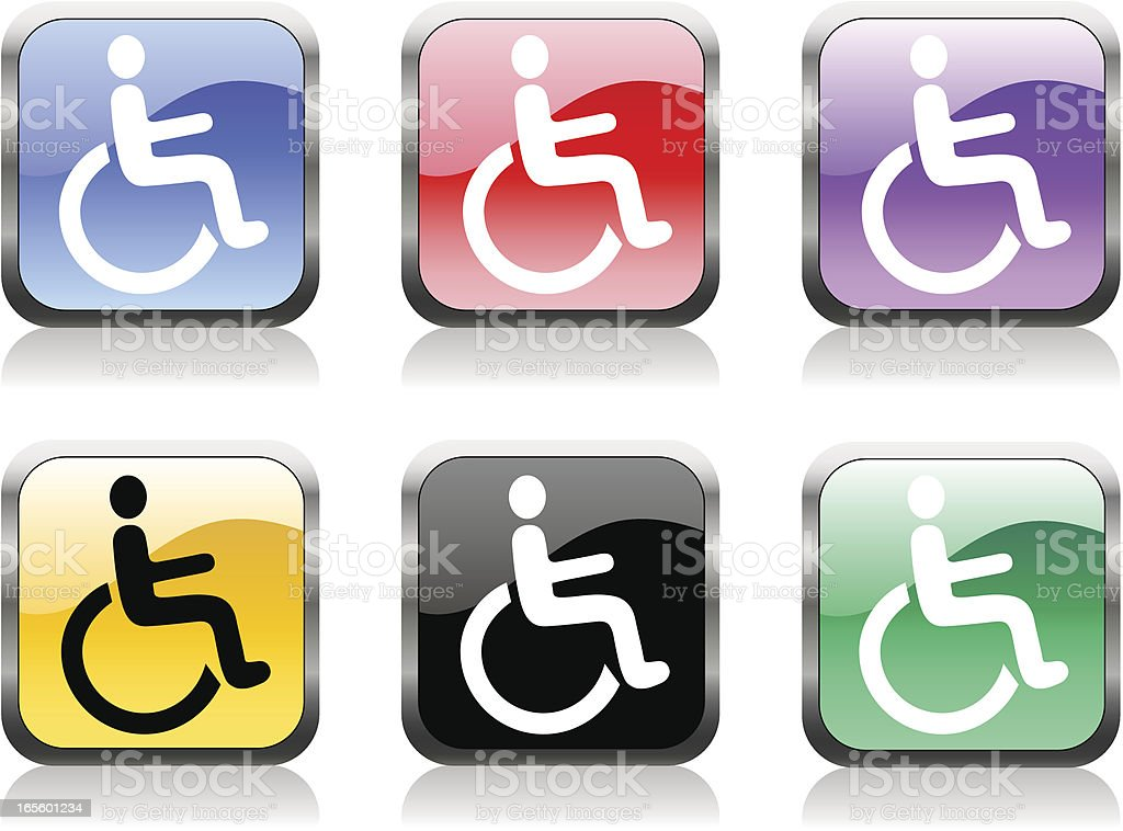 wheelchair symbol royalty-free stock vector art