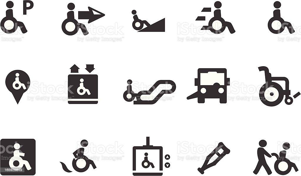 Wheelchair Symbols vector art illustration