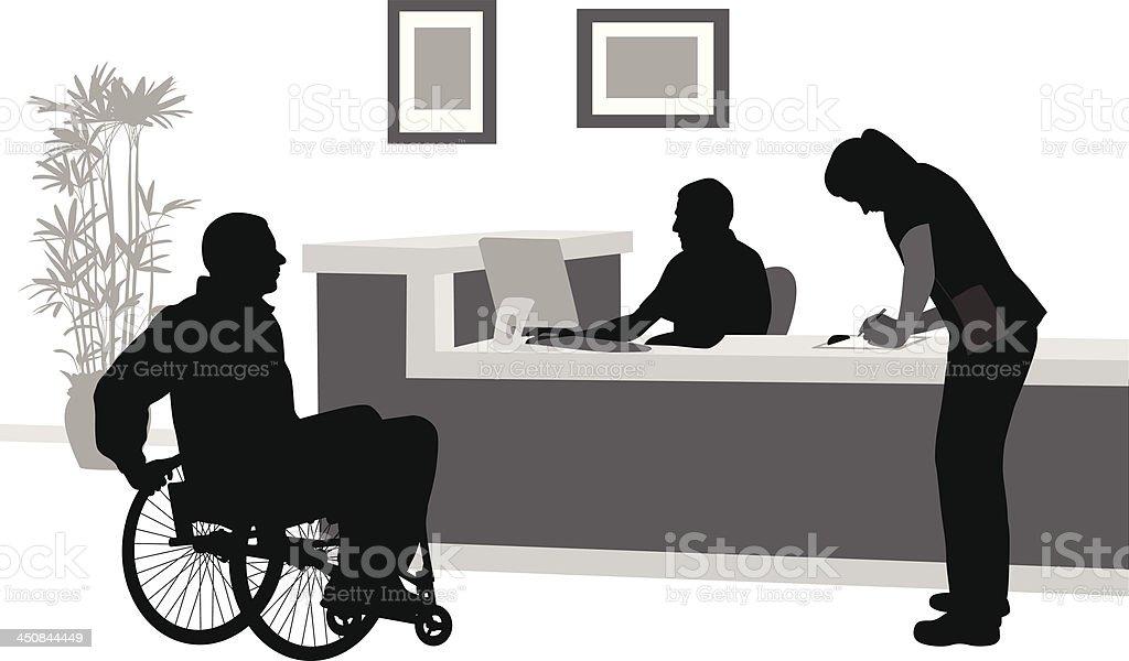 Wheelchair vector art illustration