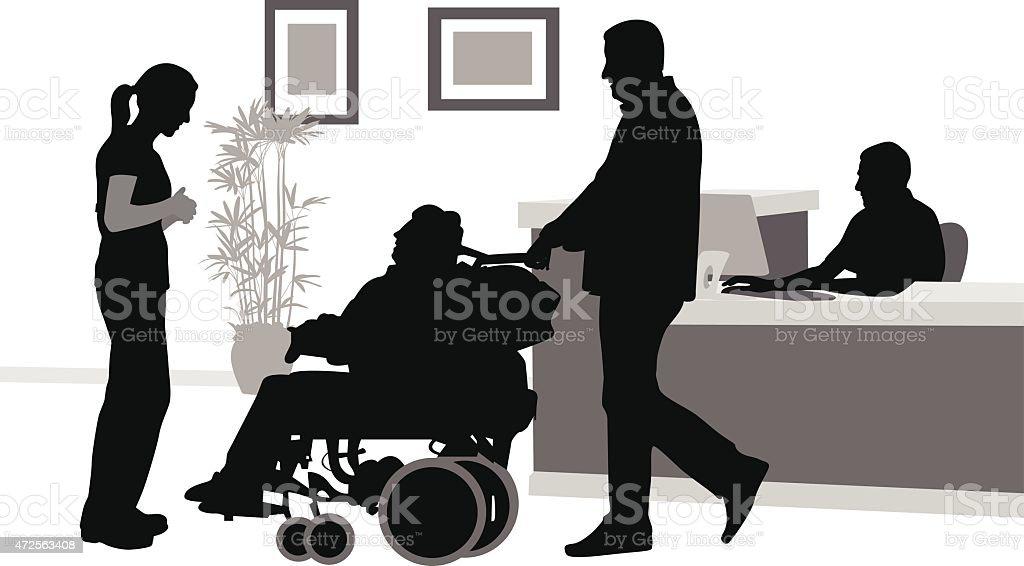 WheelchairHospice vector art illustration