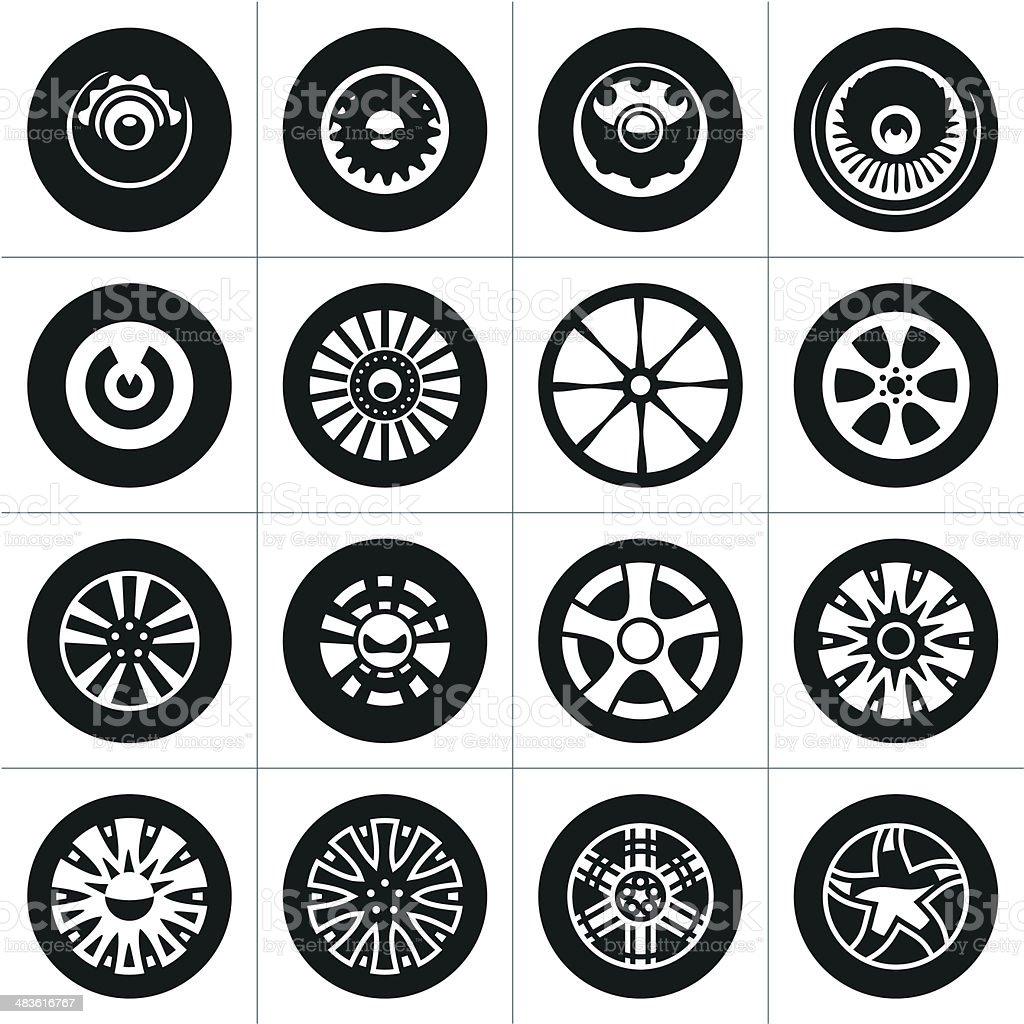 Wheels. Rims. vector art illustration