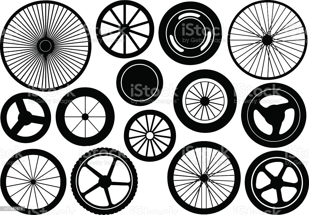 Wheels vector art illustration