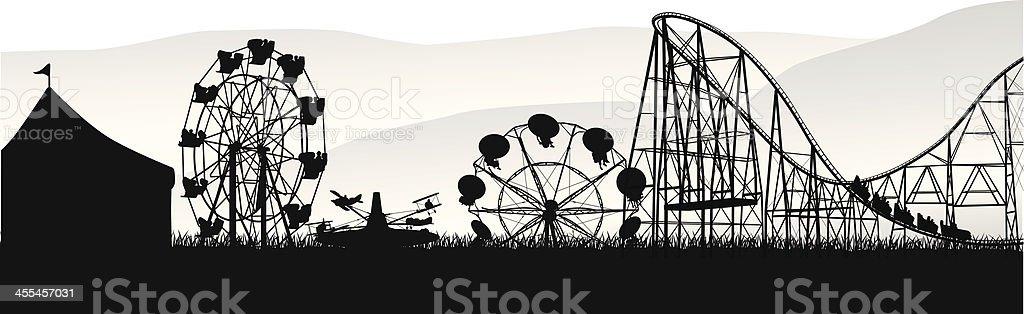 Wheels'n Deals Vector Silhouette vector art illustration