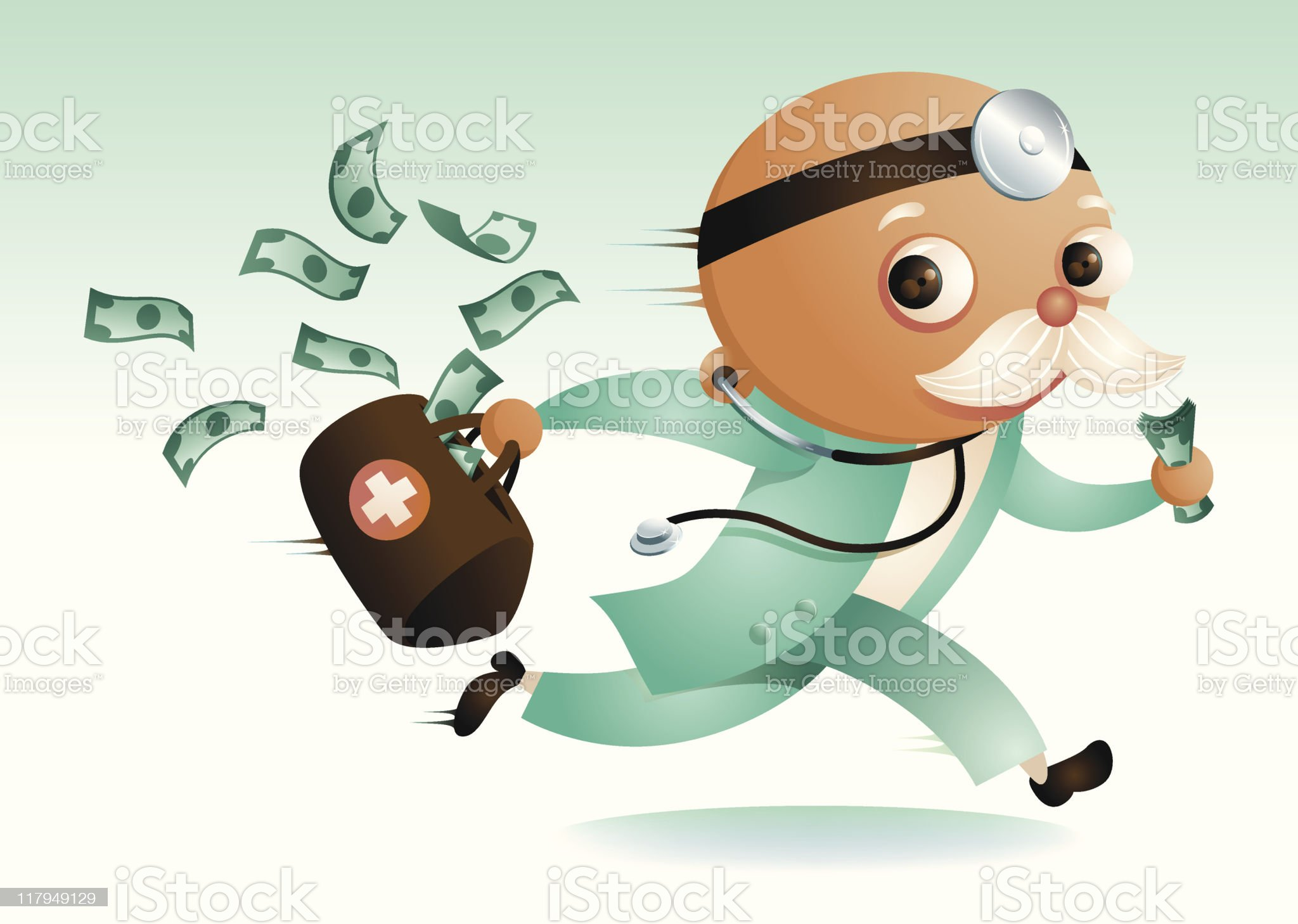 Where's Dr. Moneybags? royalty-free stock vector art