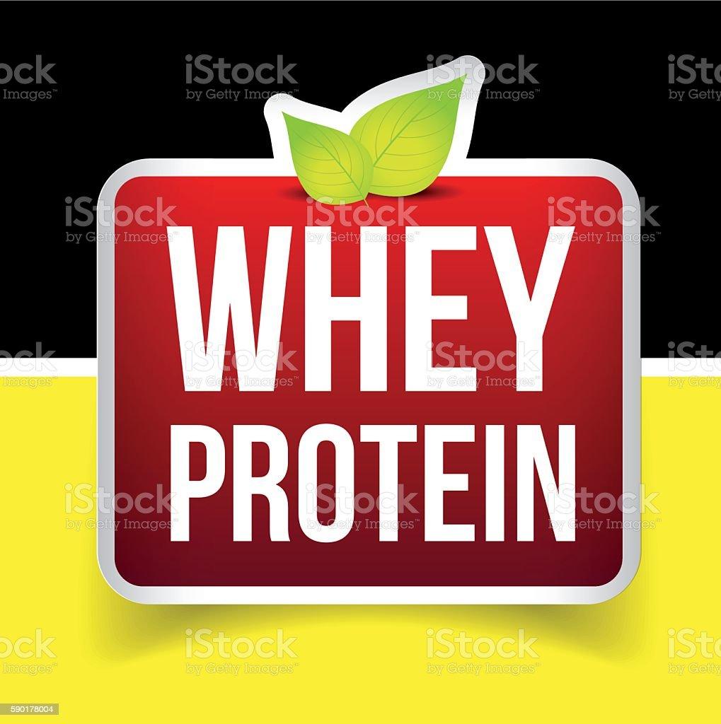 Whey Protein label vector vector art illustration
