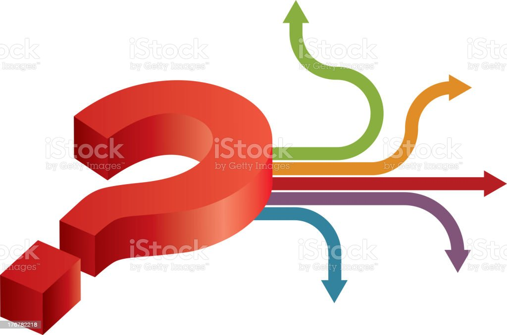 Which direction? royalty-free stock vector art