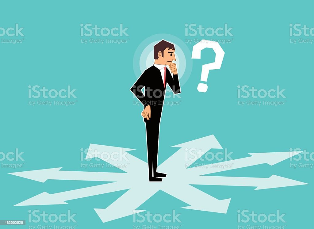 Which way vector art illustration