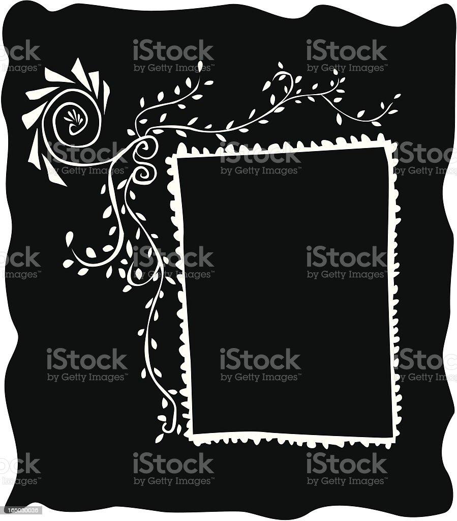 Whimsical Boho Portrait Frame ( Vector ) royalty-free stock vector art
