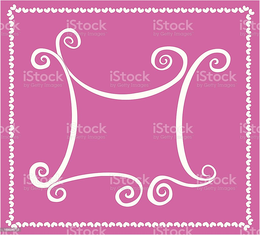 Whimsical Curly Frame ( Vector ) royalty-free stock vector art