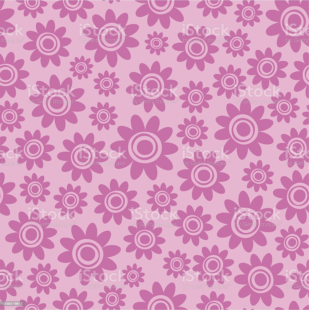Whimsical flowers seamless pattern. royalty-free stock vector art