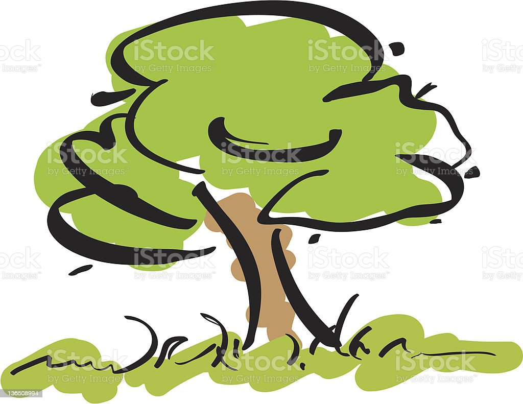 Whimsical Tree royalty-free stock vector art