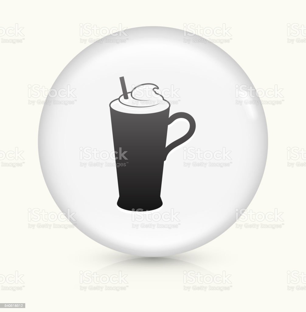 Whipped Drink icon on white round vector button vector art illustration