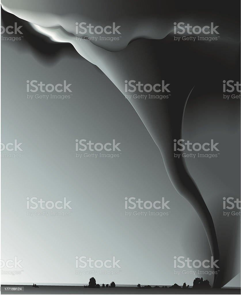 Whirlwind vector art illustration
