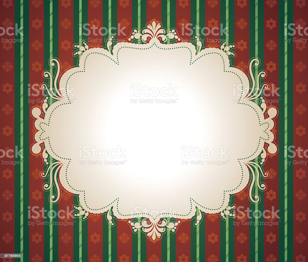 Whirly Christmas Sign royalty-free stock vector art