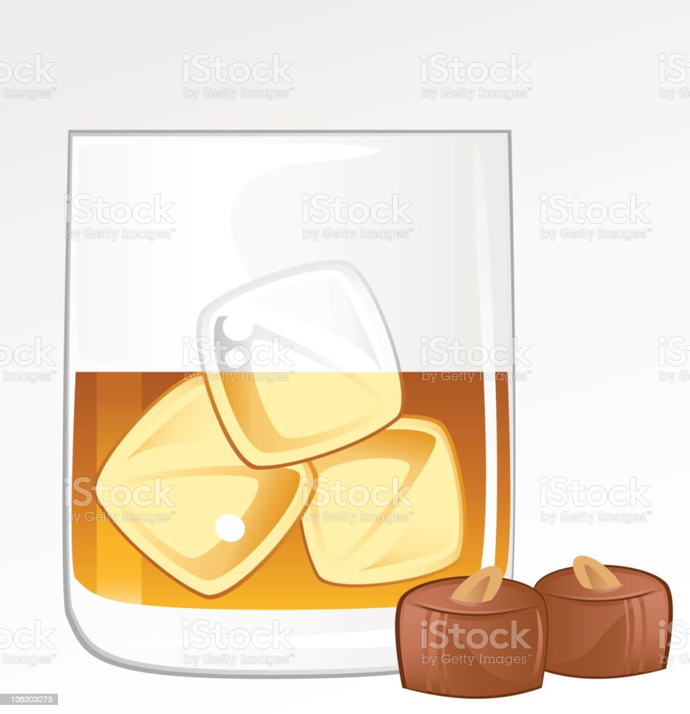 Whiskey and Chocolate vector art illustration