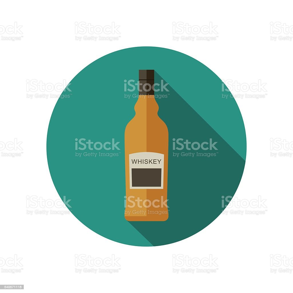 Whiskey icon in flat style vector art illustration