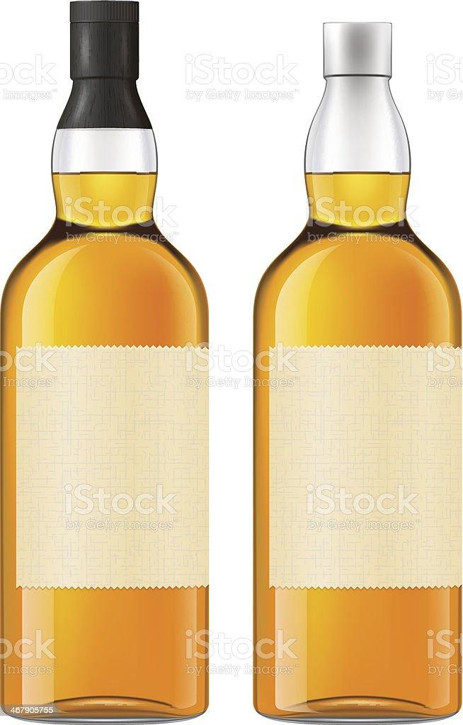 Whisky bottle vector art illustration