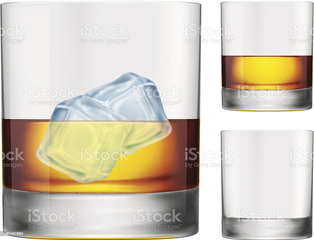 Whisky Glass vector art illustration