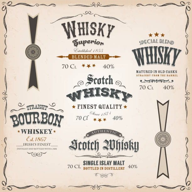 Distillery Clip Art Vector Images Illustrations Istock For Jameson Whiskey Label Template