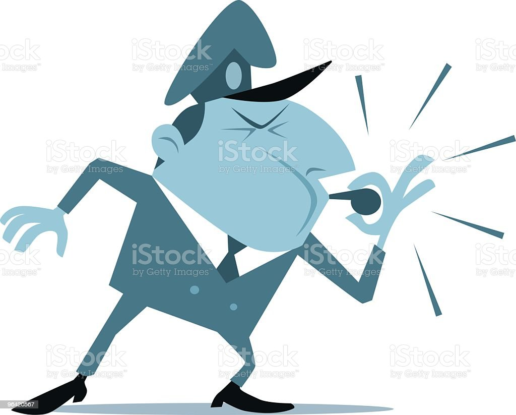 Whistle Cop royalty-free stock vector art