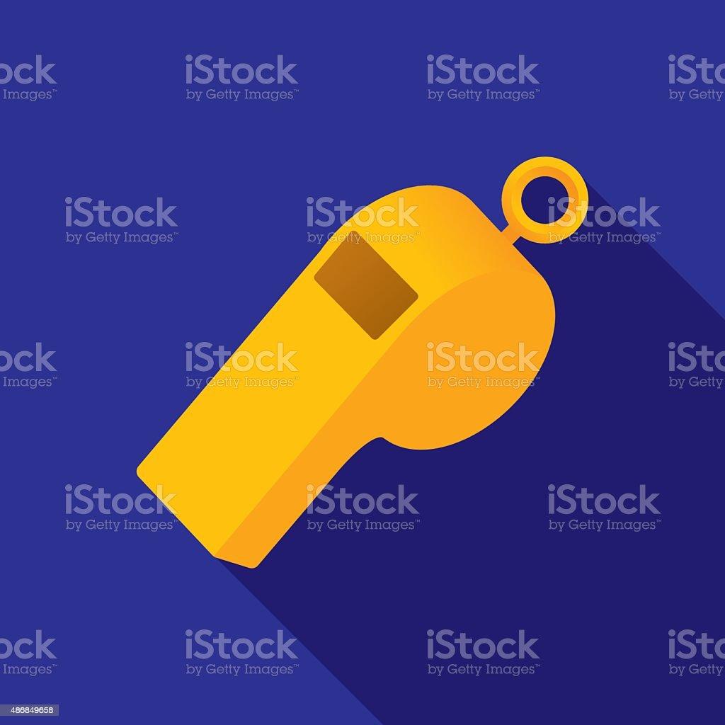 Whistle Icon Flat vector art illustration