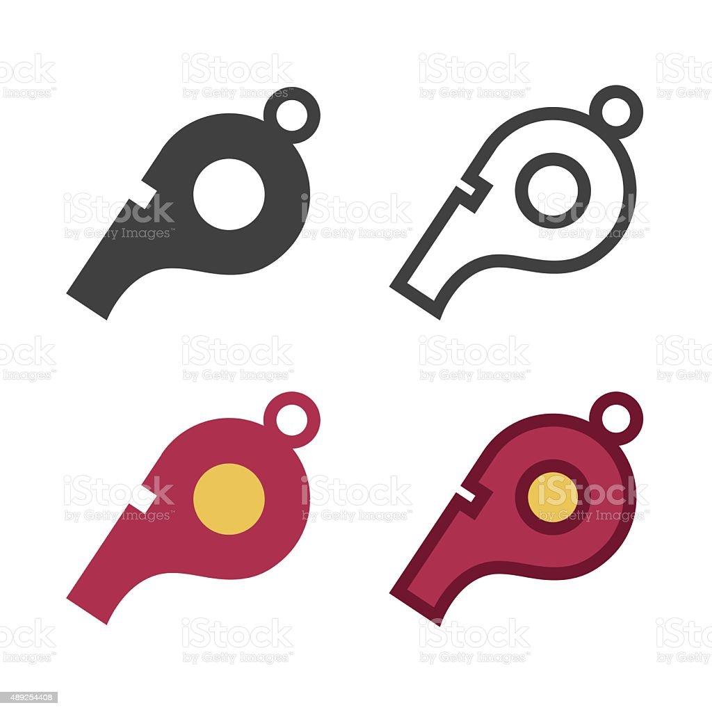 Whistle Icon vector art illustration