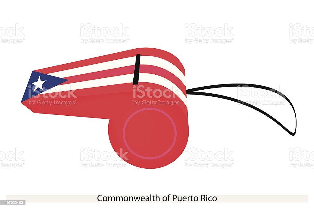 Whistle of Commonwealth  Puerto Rico vector art illustration