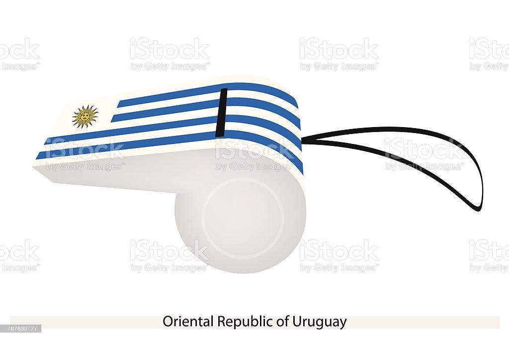 Whistle of Oriental Republic  Uruguay vector art illustration