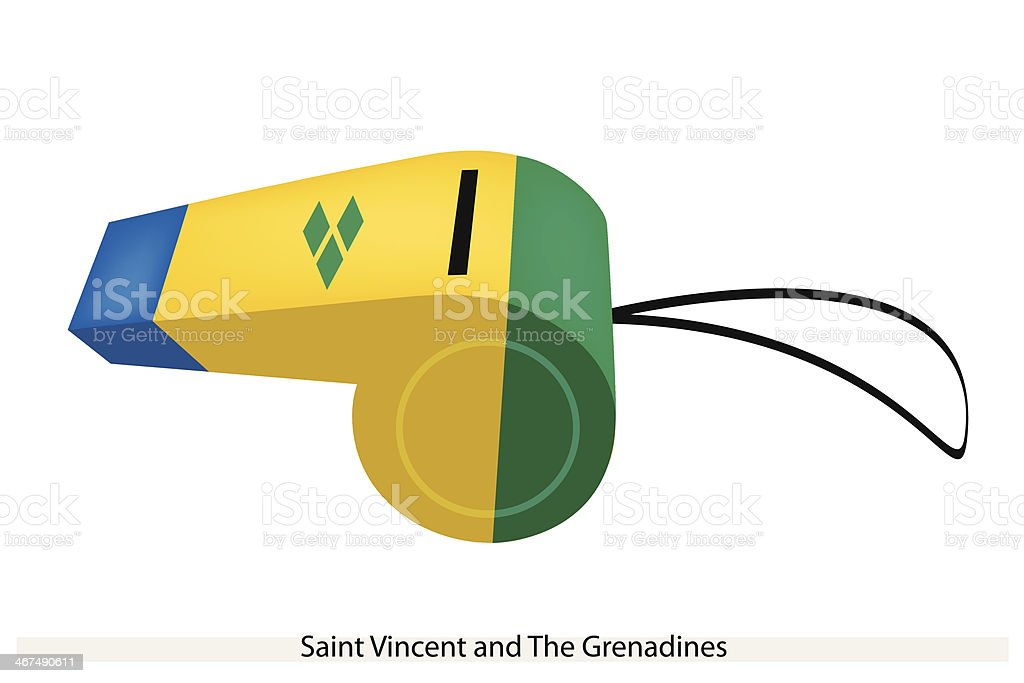 Whistle of Saint Vincent and The Grenadines vector art illustration