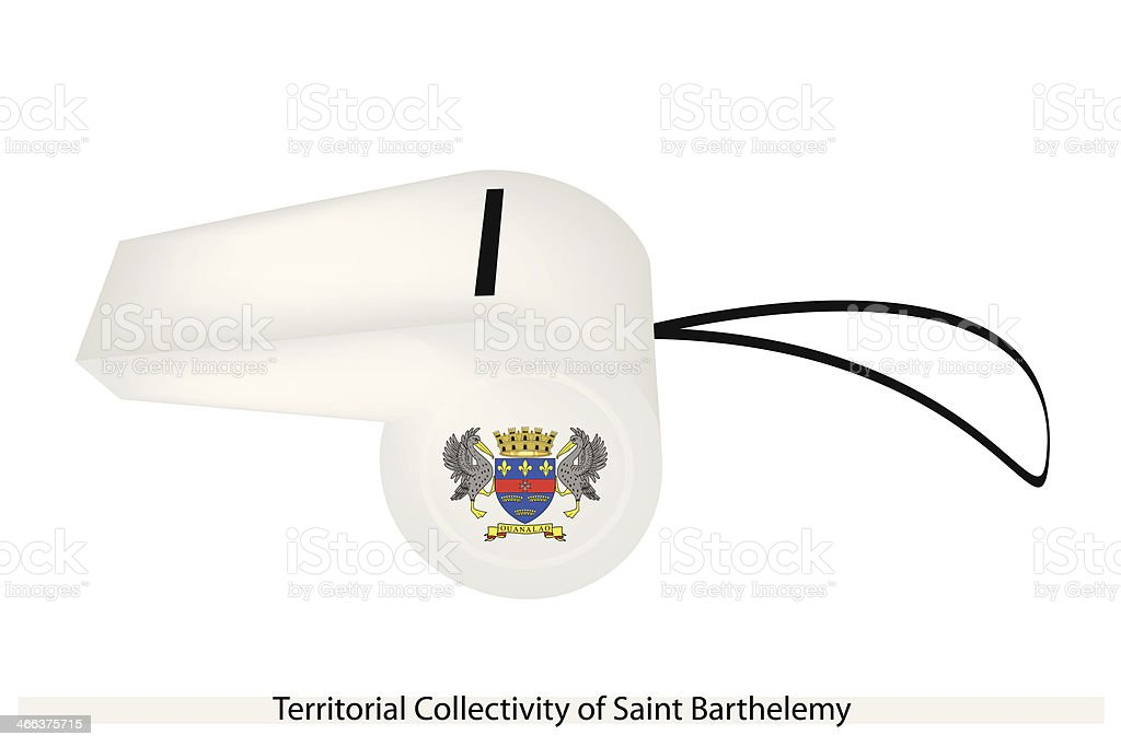 Whistle of Territorial Collectivity  Saint Barthelemy vector art illustration