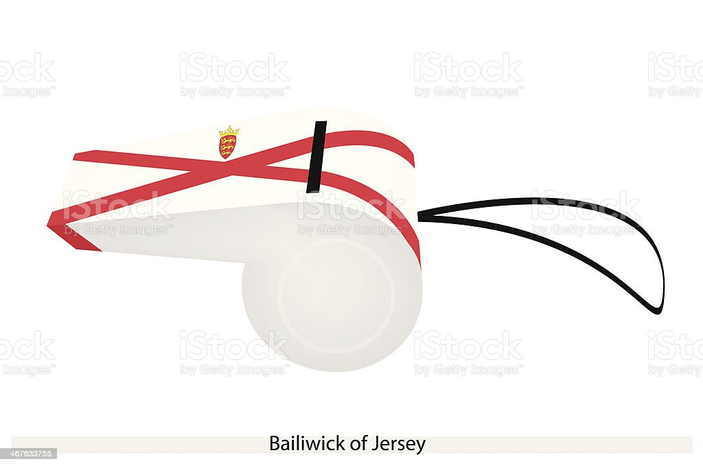Whistle of The Bailiwick  Jersey vector art illustration