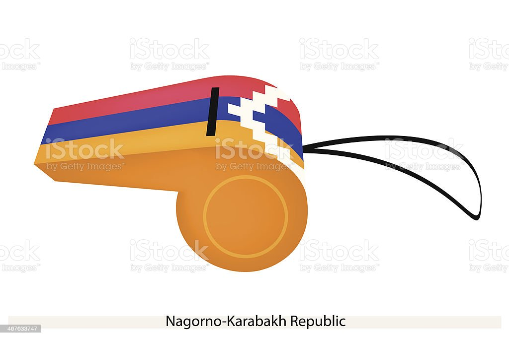 Whistle of The Nagorno Karabakh Republic vector art illustration