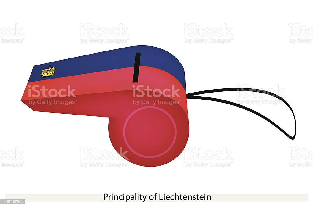 Whistle of The Principality  Liechtenstein royalty-free stock vector art
