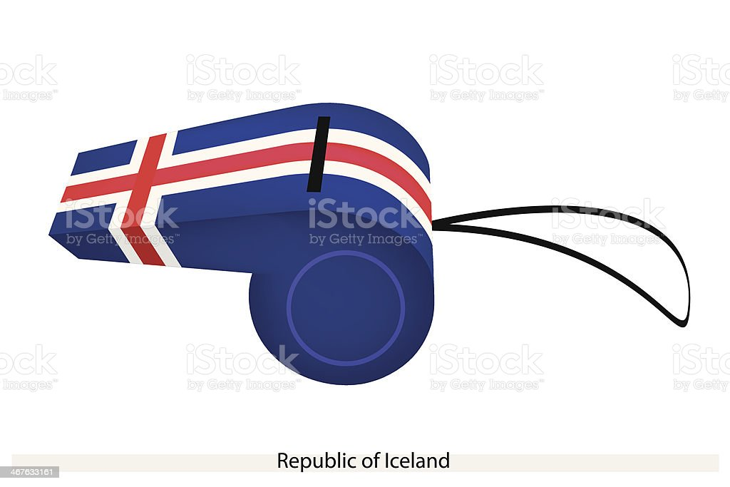 Whistle of The Republic  Iceland royalty-free stock vector art