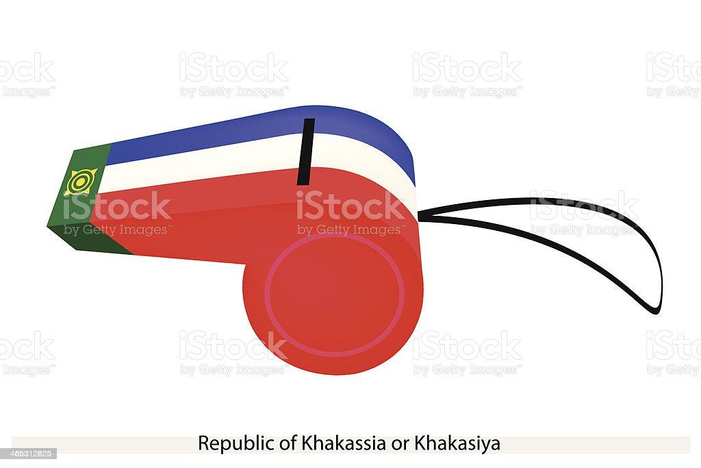 Whistle of The Republic  Khakassia vector art illustration