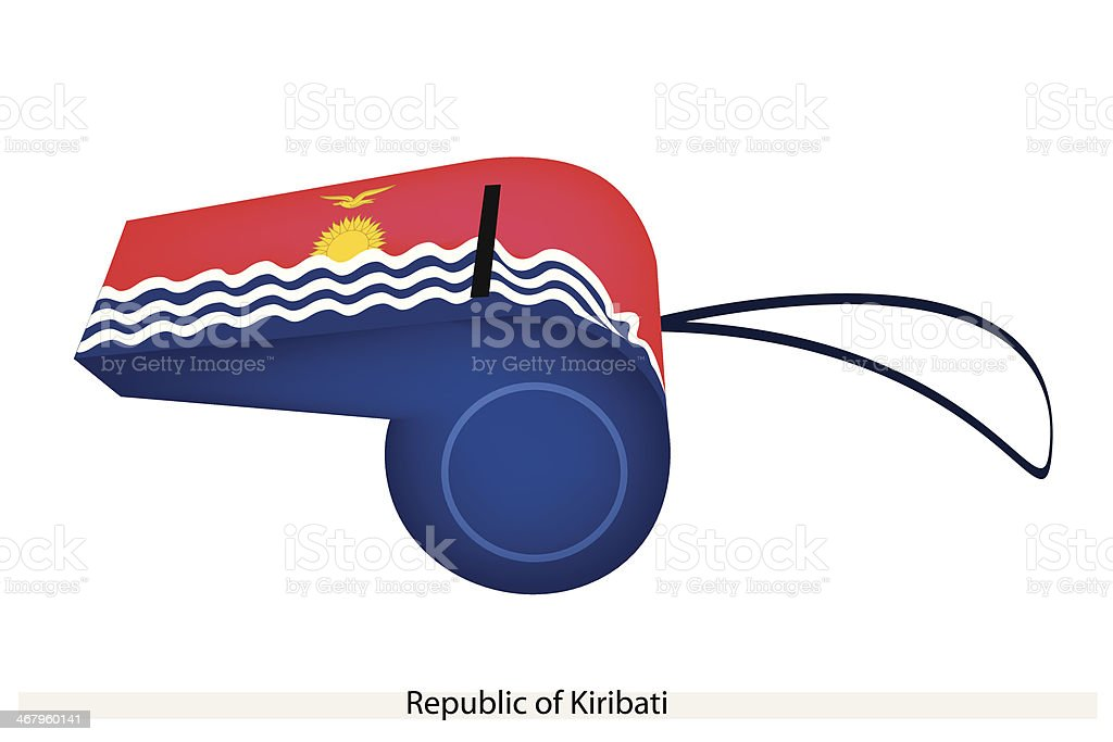 Whistle of The Republic  Kiribati royalty-free stock vector art