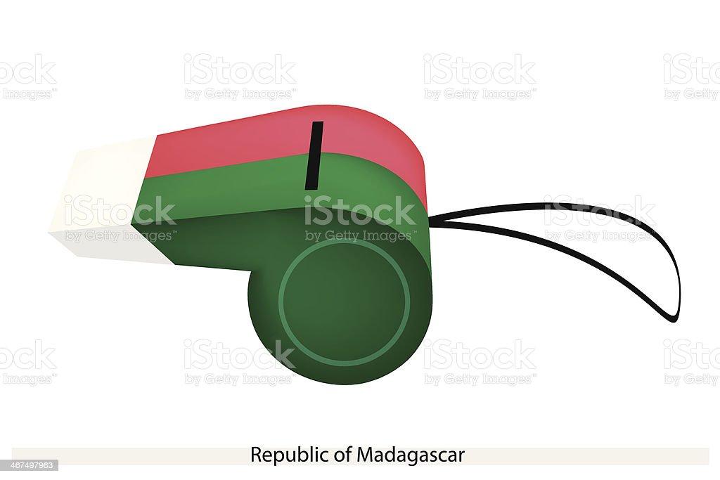 Whistle of The Republic  Madagascar vector art illustration