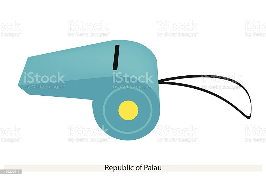 Whistle of The Republic  Palau royalty-free stock vector art