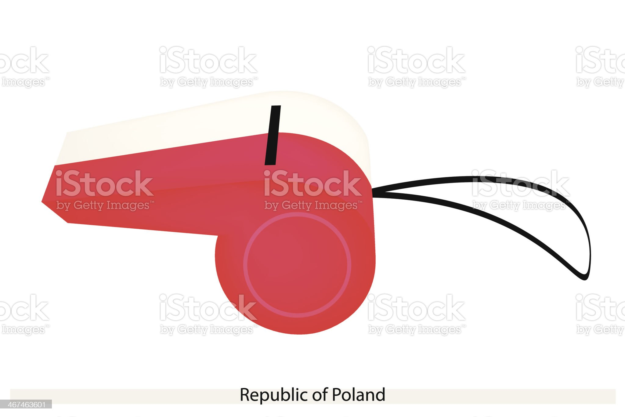 Whistle of The Republic  Poland royalty-free stock vector art