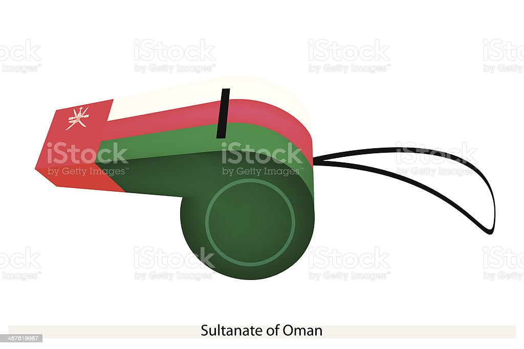 Whistle of The Sultanate  Oman royalty-free stock vector art