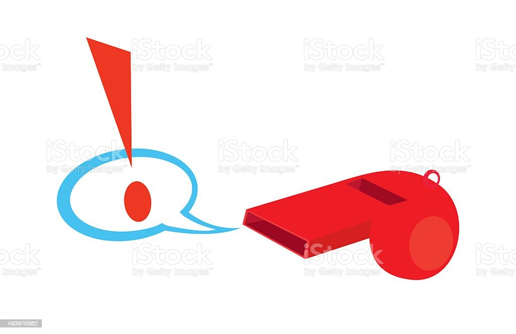 Whistle Warning vector art illustration