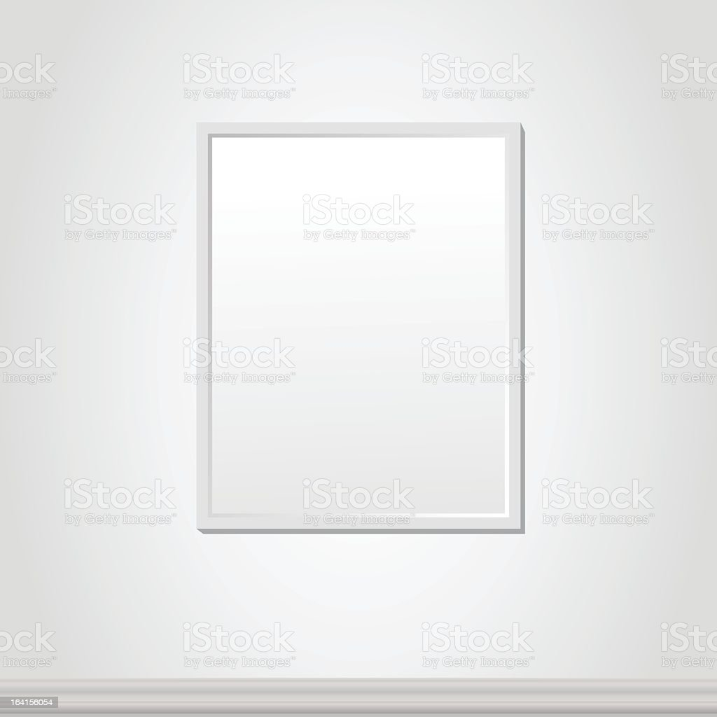 White abstract frame royalty-free stock vector art